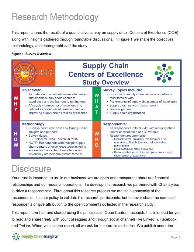 Driving Supply Chain Excellence Report -18 June 2015 Slide 3