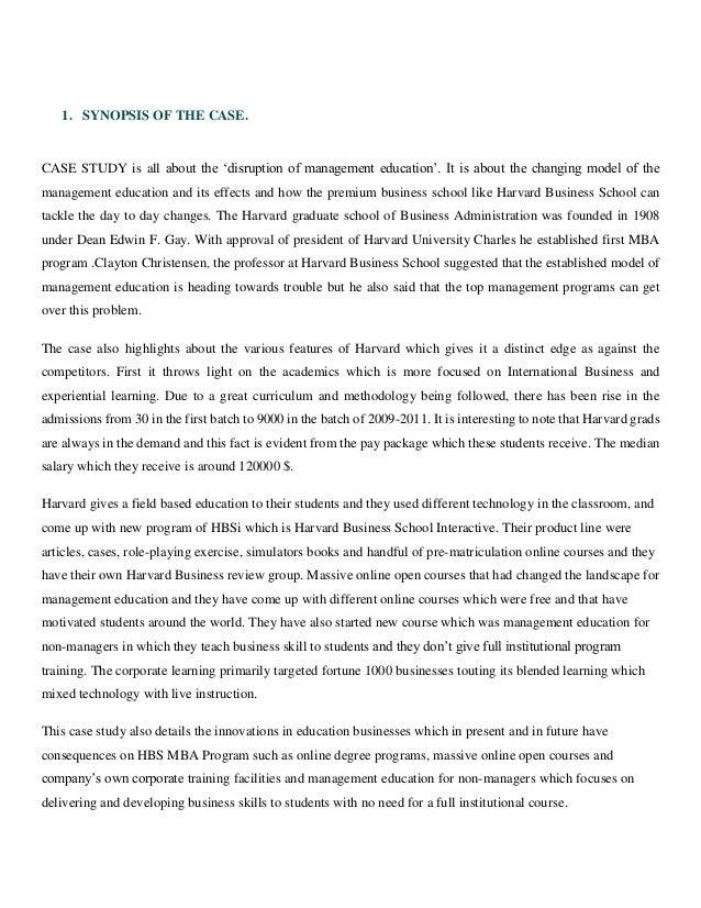 harvard business case studies pdf