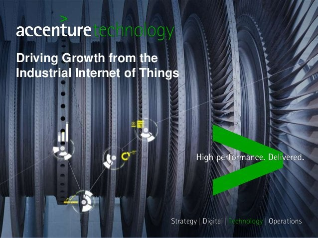 Driving Growth from the  Industrial Internet of Things