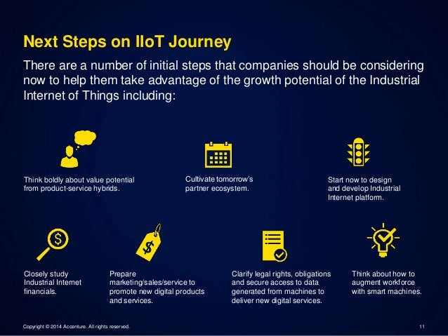 Next Steps on IIoT Journey  There are a number of initial steps that companies should be considering  now to help them tak...
