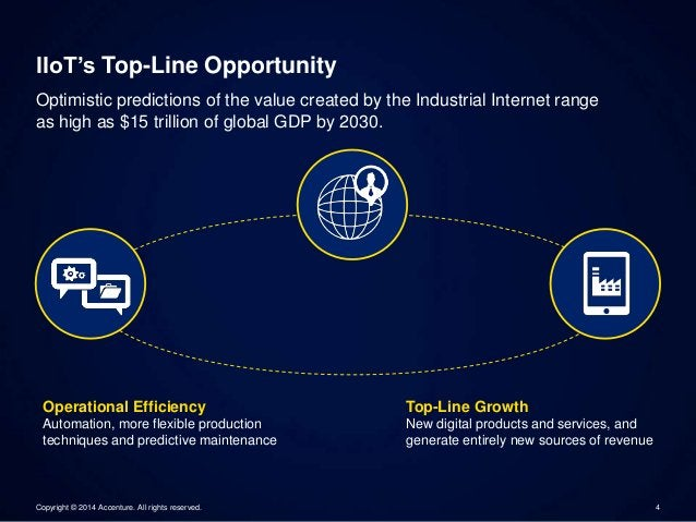 IIoT's Top-Line Opportunity  Optimistic predictions of the value created by the Industrial Internet range  as high as $15 ...