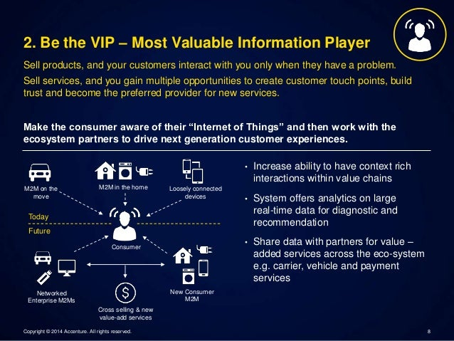 2. Be the VIP – Most Valuable Information Player  Sell products, and your customers interact with you only when they have ...