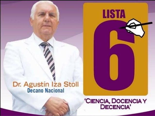 HOJA DE VIDA DEL Dr. AGUSTÍN IZA STOLL  Doctor en Medicina  Especialista en Medicina Interna - RNE 3936  Académico de N...