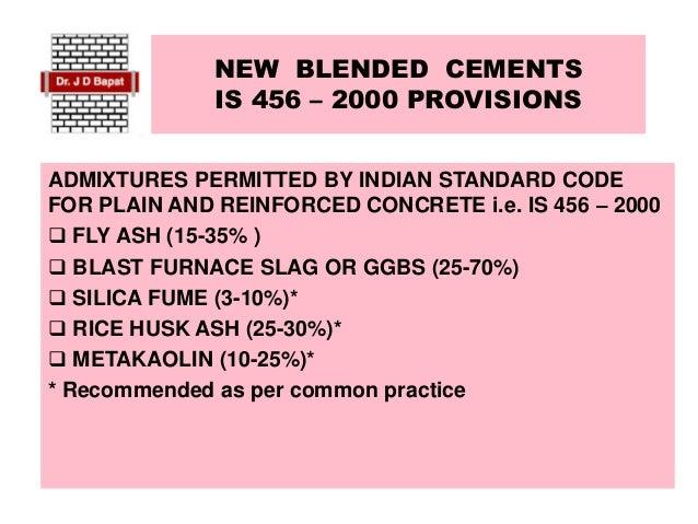NEW BLENDED CEMENTS Slide 3