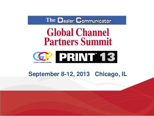 September 8-12, 2013 Chicago, IL