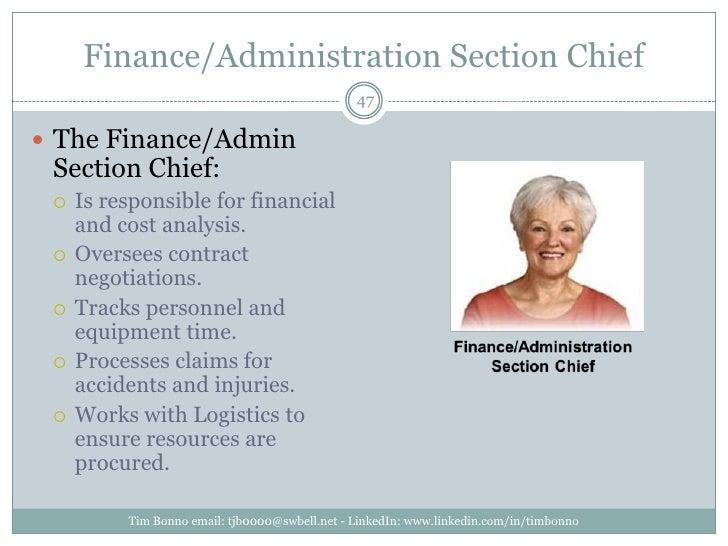 Finance/Administration Section Chief<br />Tim Bonno email: tjb0000@swbell.net - LinkedIn: www.linkedin.com/in/timbonno<br ...