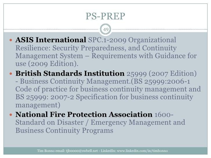 PS-PREP<br />Tim Bonno email: tjb0000@swbell.net - LinkedIn: www.linkedin.com/in/timbonno<br />ASIS International SPC.1-20...