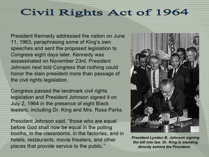 President Kennedy addressed the nation on June 11, 1963, paraphrasing some of King's own speeches and sent the proposed le...