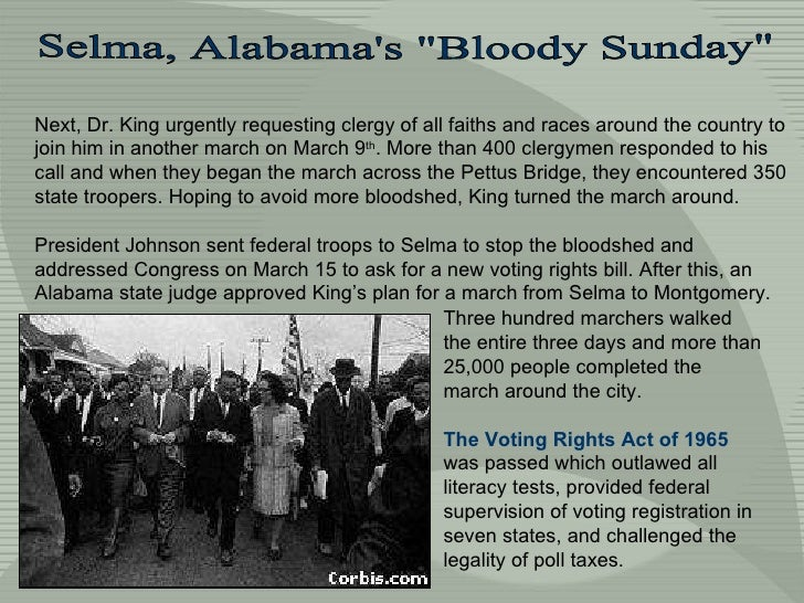 Next, Dr. King urgently requesting clergy of all faiths and races around the country to join him in another march on March...