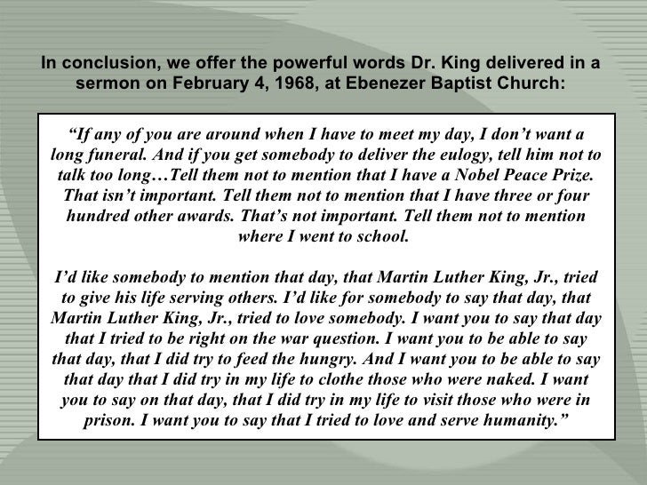 """"""" If any of you are around when I have to meet my day, I don't want a long funeral. And if you get somebody to deliver the..."""