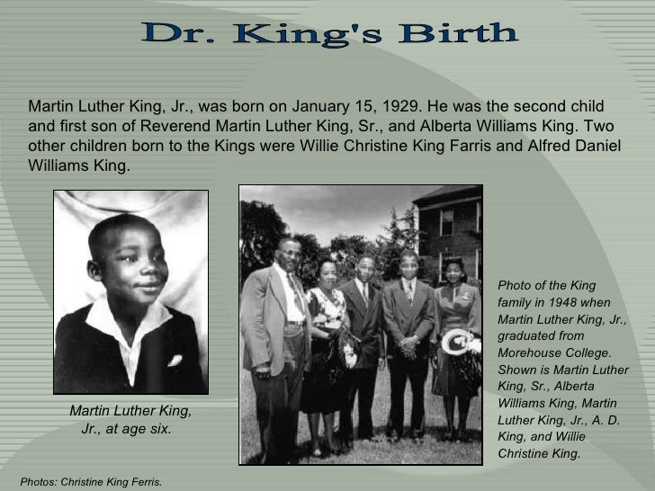martin luther king sr. biography