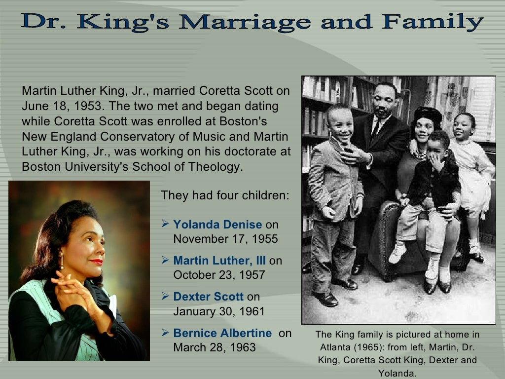 Dr King S Marriage And Family