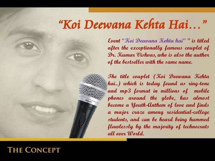 Koi Deewana Kehta Hai Lyrics Pdf