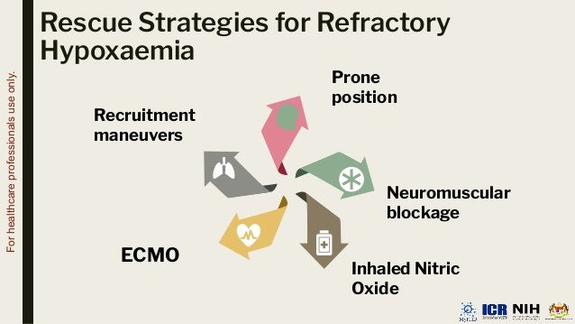 Rescue Strategies for Refractory Hypoxaemia Neuromuscular blockage ECMO Recruitment maneuvers Inhaled Nitric Oxide Prone p...