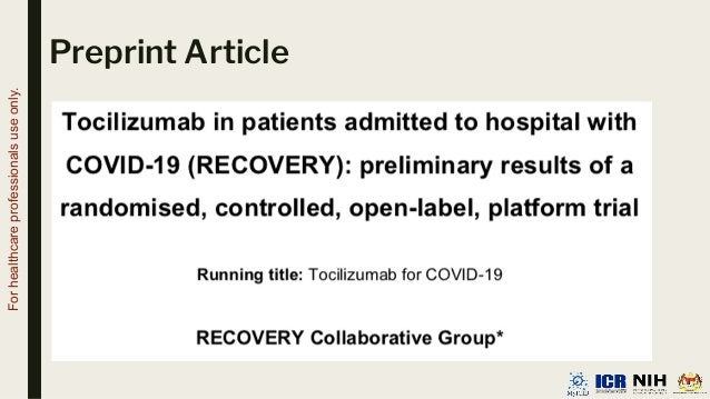 Preprint Article For healthcare professionals use only.