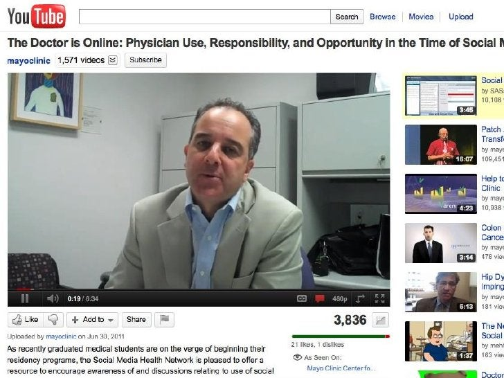 Social Media• Presents perplexing challenge• Transforming the way we interact• Patients online for healthcare beyond the e...