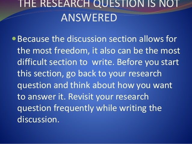 what to write in discussion of research paper How to write a conclusion to a science research paper anna tower updated june 13, 2017 science research papers follow a particular structure, including an introduction, review of methods, report on results and discussion of the meaning.
