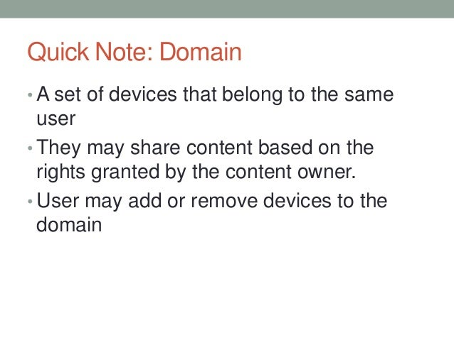 Drm landscape and online streaming
