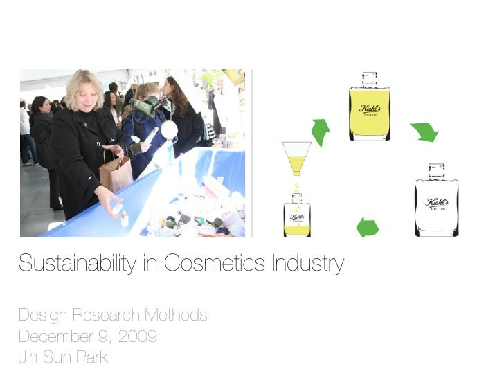 Sustainability in Cosmetics Industry  Design Research Methods December 9, 2009 Jin Sun Park