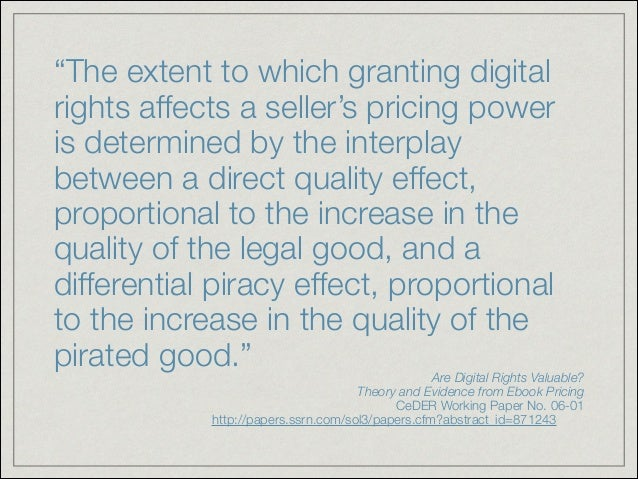 Piracy and digital rights management of