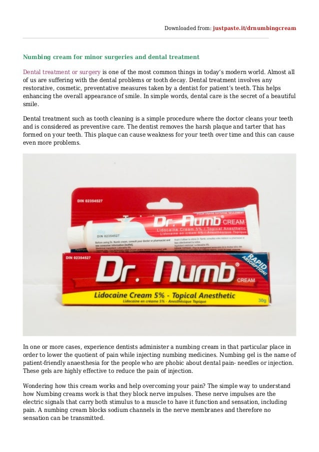 Dr Numb : The Best Numbing Cream