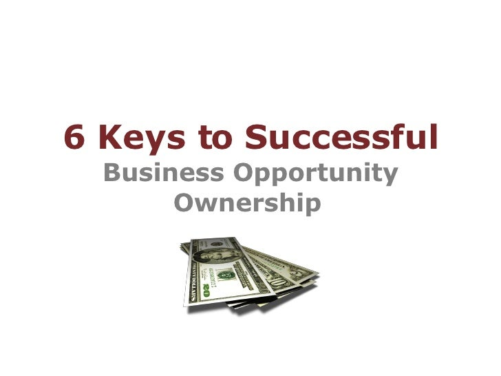 6 Keys to Successful Business Opportunity Ownership