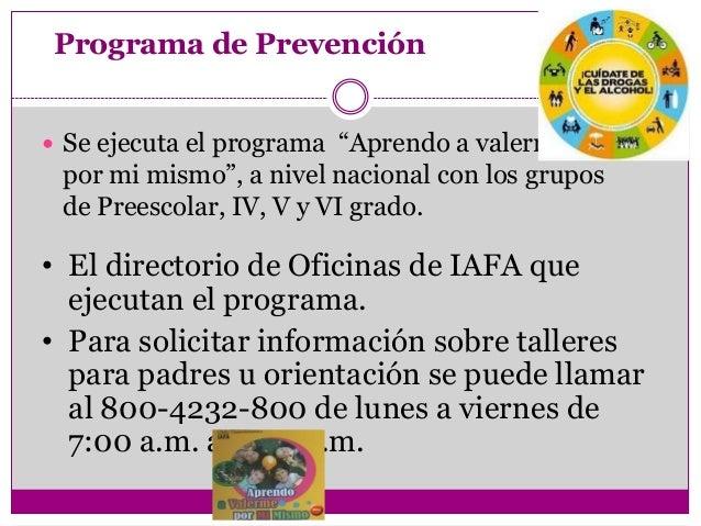 """Programa de Prevención Se ejecuta el programa """"Aprendo a valerme por mi mismo"""", a nivel nacional con los grupos de Preesc..."""