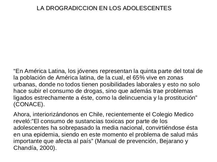 """"""" En América Latina, los jóvenes representan la quinta parte del total de la población de América latina, de la cual, el 6..."""