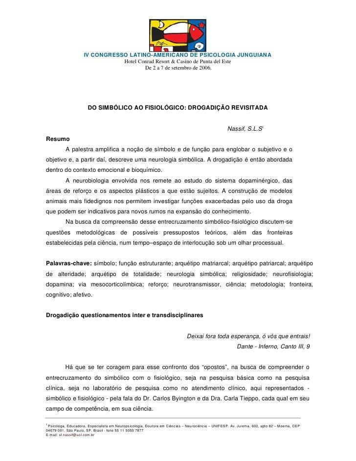 IV CONGRESSO LATINO-AMERICANO DE PSICOLOGIA JUNGUIANA                                Hotel Conrad Resort & Casino de Punta...