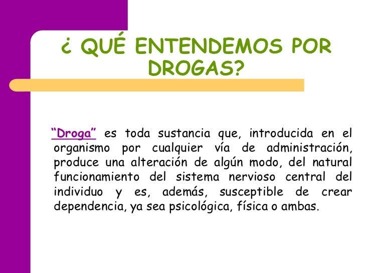 Drogas diapositivas Slide 2