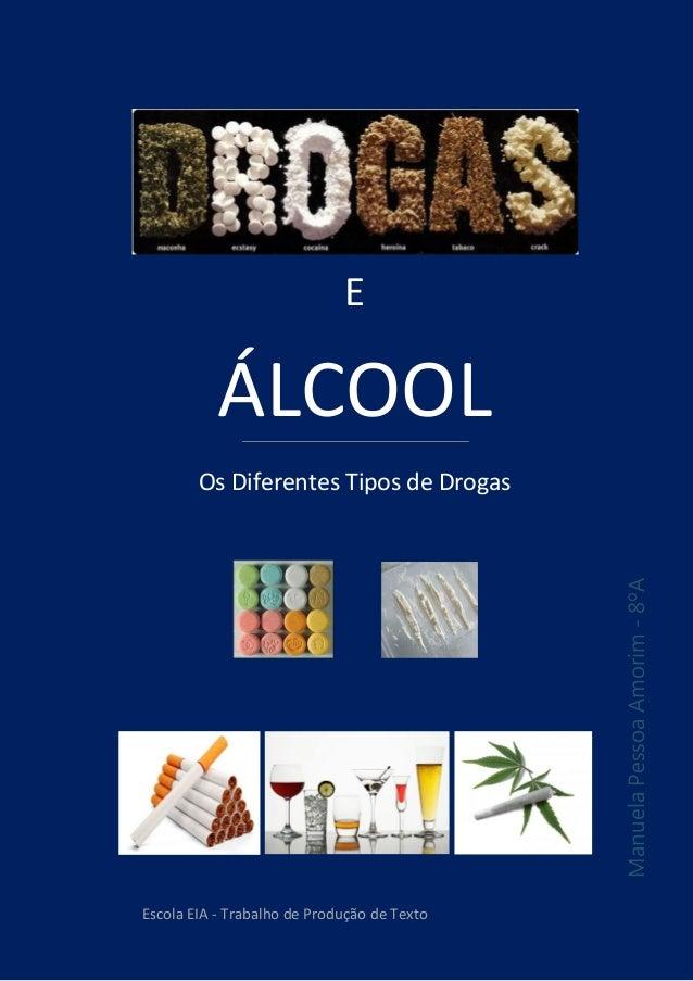 E ÁLCOOL Os Diferentes Tipos de Drogas ManuelaPessoaAmorim-8ºA Escola EIA - Trabalho de Produção de Texto