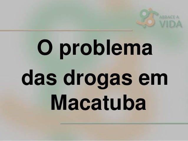 O problema das drogas em Macatuba