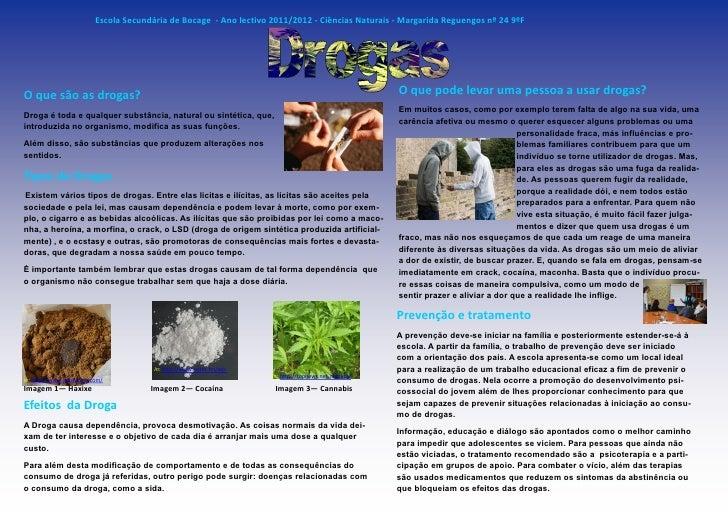 Escola Secundária de Bocage - Ano lectivo 2011/2012 - Ciências Naturais - Margarida Reguengos nº 24 9ºFO que são as drogas...