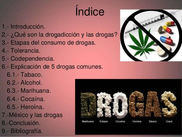 Las Drogas y sus Efectos Slide 2