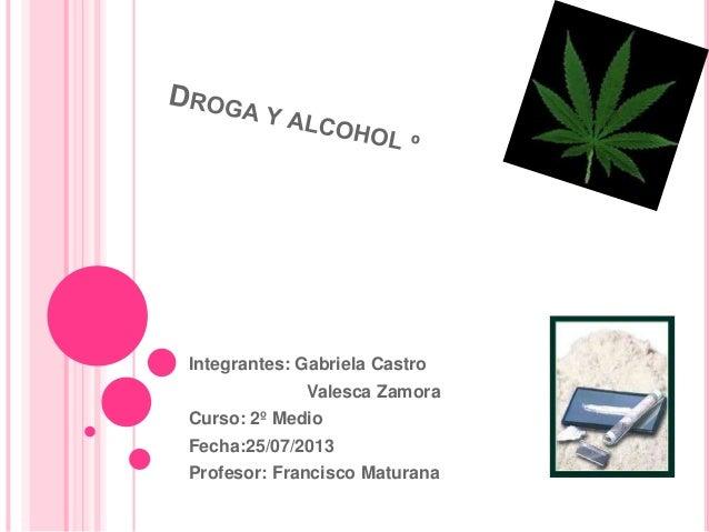 Integrantes: Gabriela Castro Valesca Zamora Curso: 2º Medio Fecha:25/07/2013 Profesor: Francisco Maturana