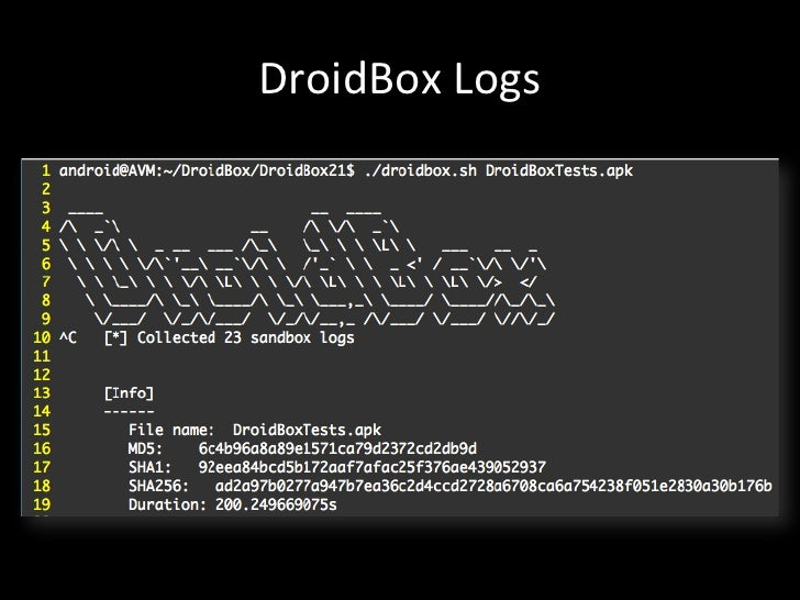 Introduction to Dynamic Analysis of Android Application