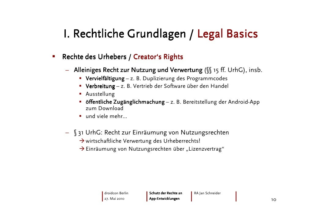 Droidcon 2010: Protecting Android-Apps under German law ...