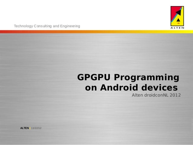 Technology Consulting and Engineering                                   GPGPU Programming                                 ...