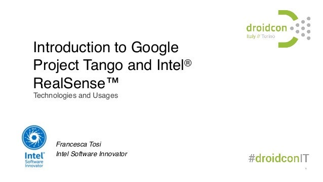 Introduction to Google Project Tango and Intel® RealSense™