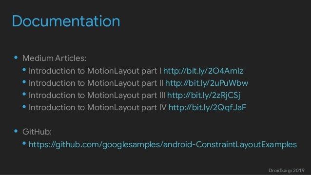 Deep dive into MotionLayout