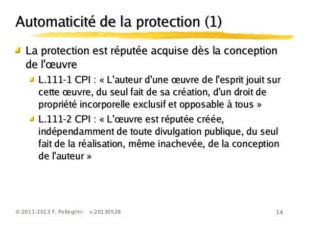 14© 2011-2013 F. Pellegrini v.20130528Automaticité de la protection (1)Automaticité de la protection (1)La protection est ...