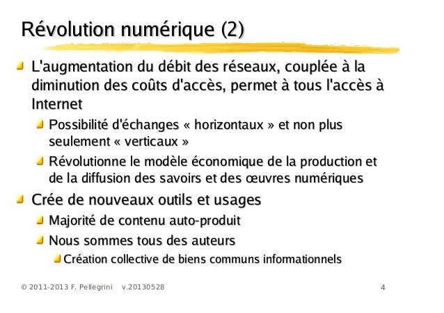 4© 2011-2013 F. Pellegrini v.20130528Laugmentation du débit des réseaux, couplée à laLaugmentation du débit des réseaux, c...