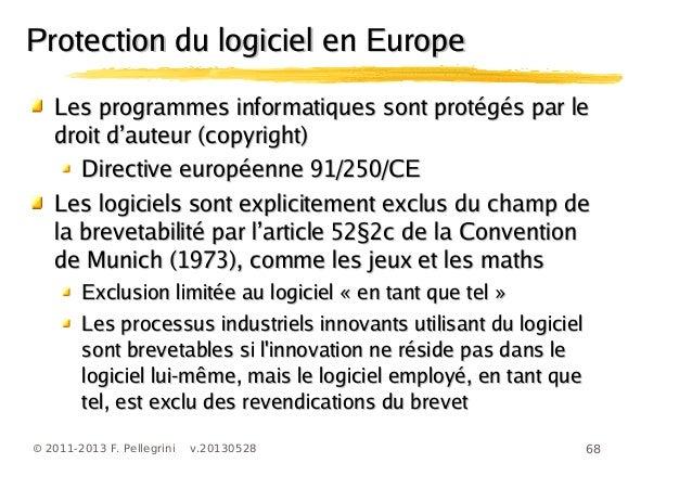68© 2011-2013 F. Pellegrini v.20130528Les programmes informatiques sont protégés par leLes programmes informatiques sont p...