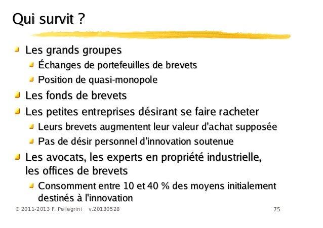 75© 2011-2013 F. Pellegrini v.20130528Les grands groupesLes grands groupesÉchanges de portefeuilles de brevetsÉchanges de ...