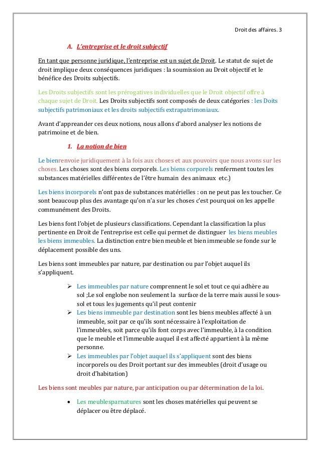 Droit Affaire Universite De Thies