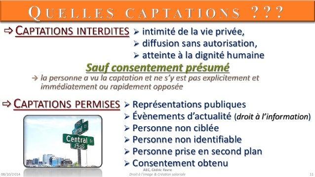 08/10/2014  AEC, Cédric Favre  Droit à l'image & Création salariale 13
