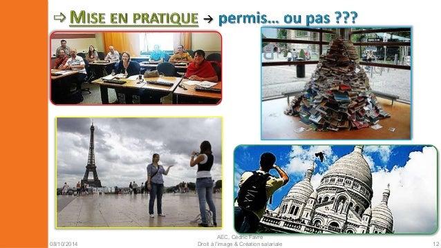 08/10/2014  AEC, Cédric Favre  Droit à l'image & Création salariale 14