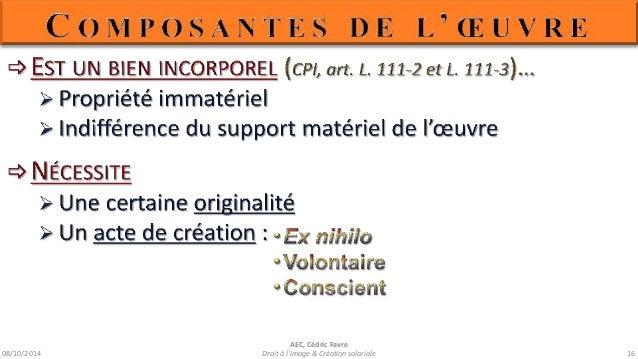 08/10/2014  AEC, Cédric Favre  Droit à l'image & Création salariale 18
