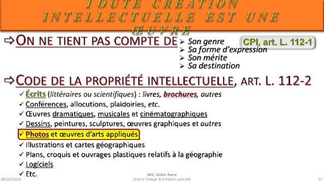 08/10/2014  AEC, Cédric Favre  Droit à l'image & Création salariale 19