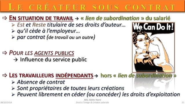 08/10/2014  AEC, Cédric Favre  Droit à l'image & Création salariale 23